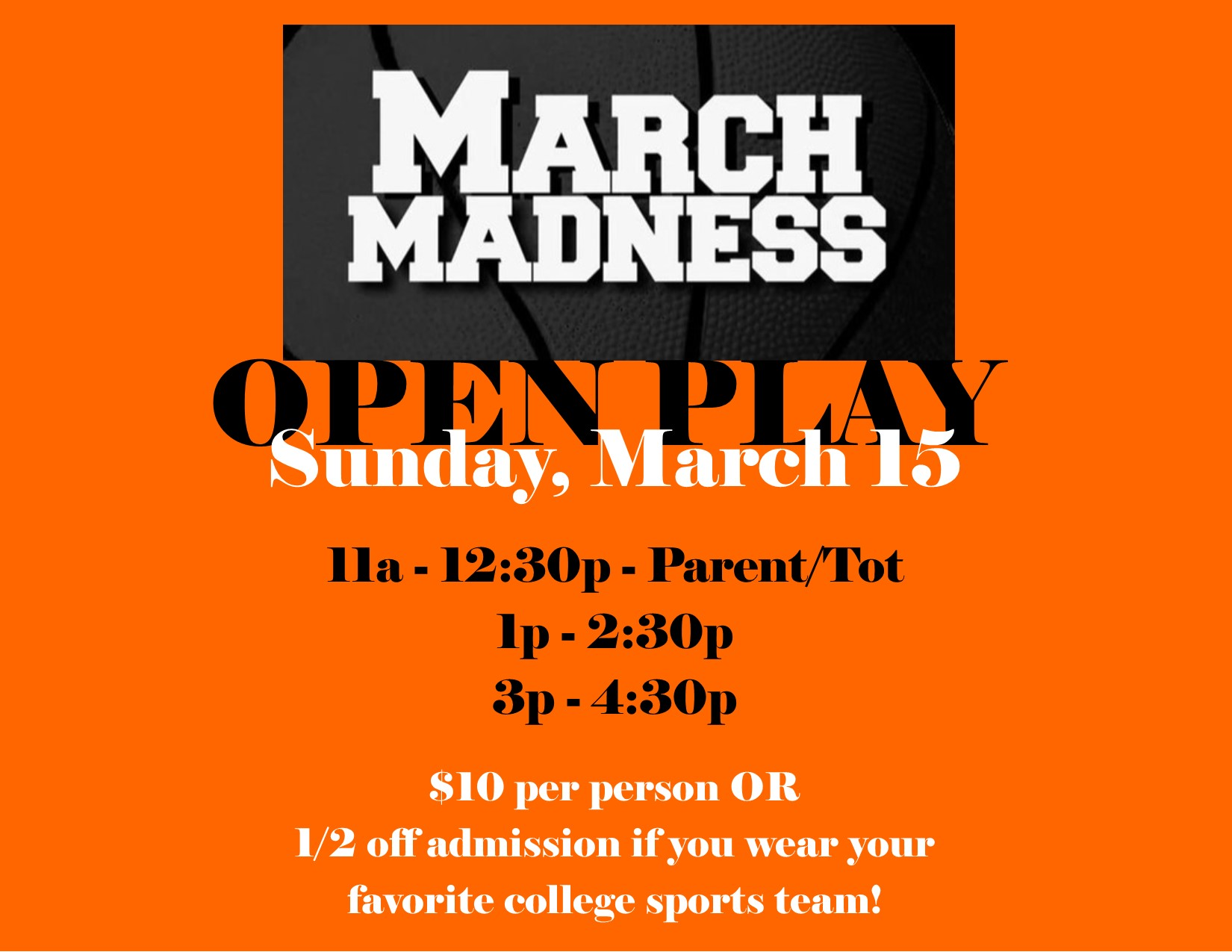 March Madness Open Play 2020